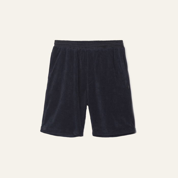 스투시 TERRY SHORT-NAVY